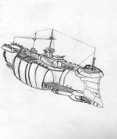 Steam punk battle ship by damien-christian