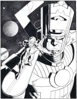 Silver Surfer Galactus commission by WaldenWong