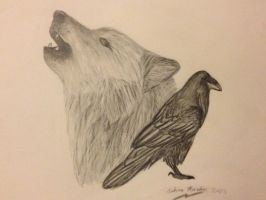 The Wolf and the Raven by smusachia41