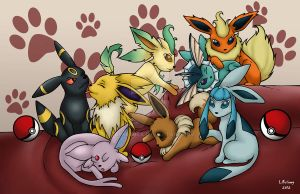 Eevee Evolution by DarkRenka