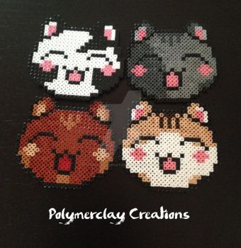 Happy Cats by PolymerclayCreations