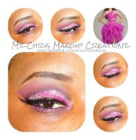 Pink Gems Makeup by MzChrisCreatez