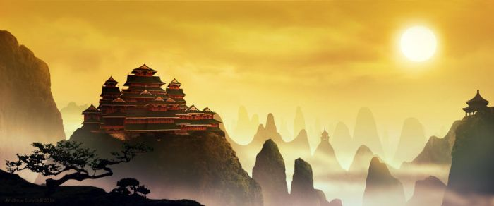 Kung Fu Flashback Matte Painting by Androgs