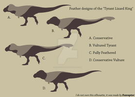 Feathered Tyrannosaurus rex designs by jmichael0899