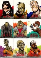 Walking Dead Sketch Cards Set 2 by Bloodzilla-Billy
