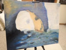 The Manneporte by Claude Monet re-done byy me.. by thelonefefe