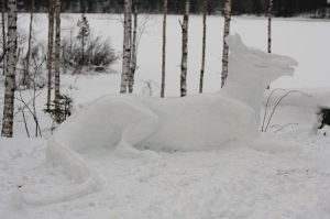 Dragon in the snow by mercuries