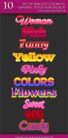 Set of Colorful Styles for Adobe Illustrator by Love-Kay