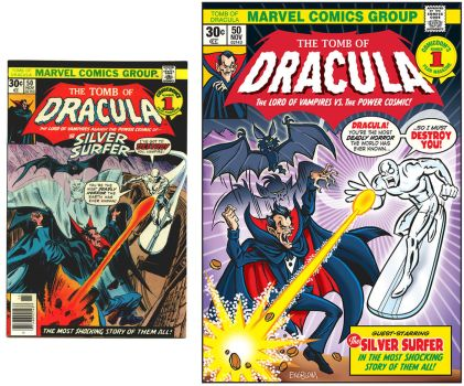 Comic Cover Re-Creation: THE TOMB OF DRACULA #50 by mengblom
