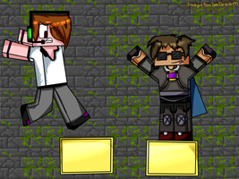 Deadlox and SkyDoesMinecraft by inceptiontakdream