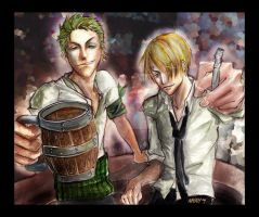 :OP: Zoro_Sanji--Bad Influence by liesean