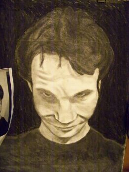 charcoal self portrait 1 by ph4tkid