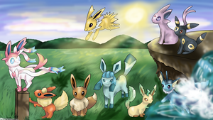 Eeveelutions by Cinnamon-Quails