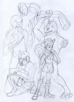Official Charater Sketches WIP by Allison-beriyani