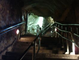The stairs down into Luray Caverns by OceanRailroader