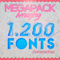 MegaPack de 1.200 FONTS -DaniMonster by DaniMonsterEditions