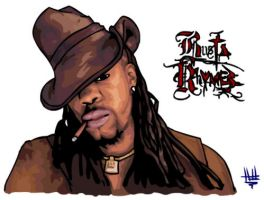 Busta Rhymes by Thunderbum