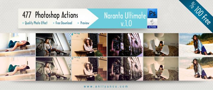477  Photoshop Actions Naranta Ultimate v.1.0 by anilync