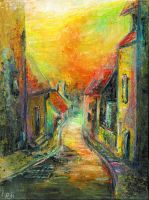 Colorful Street by JenniElfi