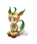 Leafeon Iggy by Loroqueen
