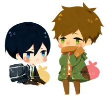 MakoHaru stickers by misunderstoodpotato