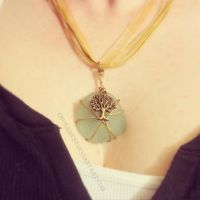 Wire Wrapped Sea Glass Pendant (Tutorial Link) by Chudames