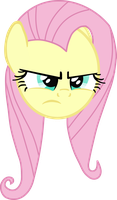 Angry Fluttershy vector by Tandyman100