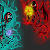 Creature Vs Nomed by Demonic-stickfigures
