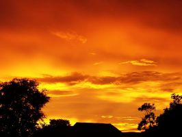 Fiery Orange Sunset 2 by richardxthripp