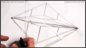 How to draw two point perspective 013 by drawingcourse