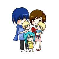 Vocaloid Family by XNessNessX
