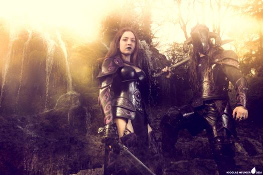 Fantasy warriors by AtelierFantastique