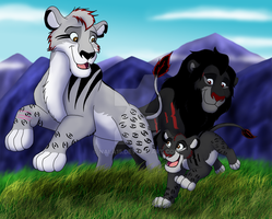Queens of the Mountains - Points Commission by Nala15