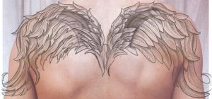 Angel Wings Cover TaT Design by 2Face-Tattoo