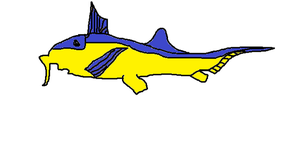 Adoptable Blue and Yellow Elephant Shark by rattyratterooze