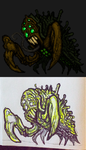 Crusty Piercer Pixel Art Monster from Doodle by TheClawTheySay