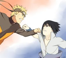 Naruto Vs Sasuke by Saya00A
