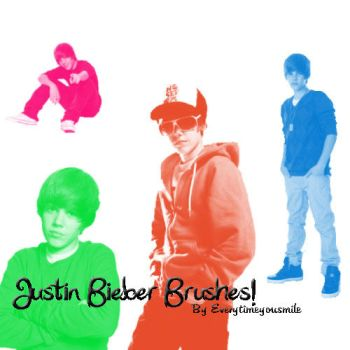 Justin Bieber Brushes by Everytimeyousmile