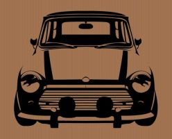 Stencil Design, Mini Cooper by sketchbagz