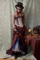 Victorian Steampunk Costume by LaLicorneAilee