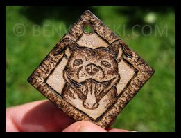 Smiling Pit Bull Pendant by benwhoski