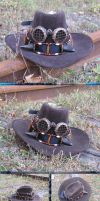 Old West Steampunk Buffalo-Horned Hat Band IIb by Windthin