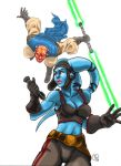 Star Wars:Maul vs Aayla Secura by effix35