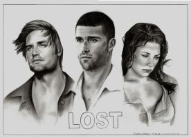 Lost - Sawyer, Jack and Kate by Evelinelily