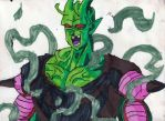 Ultra-Namekian Piccolo Laughing by ChahlesXavier