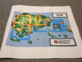 Pokemon map cross-stitch by Meri-chan27