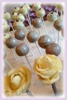 Wedding Cake Pops by gertygetsgangster