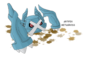 Number 376 - METAGROSS by Skyblufox