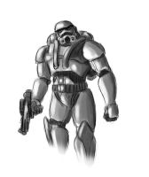 Dark Trooper phase 2 Sketch by Jazon19