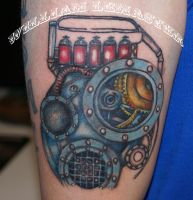 Android arm part 1 by Bill by SmilinPirateTattoo